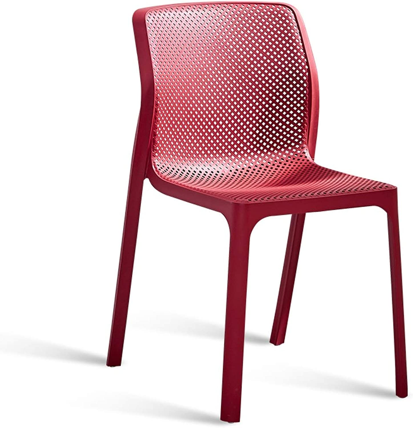 LRW Modern Red Creative Hollowing Leisure Chair Nordic Dining Chair Home Backrest Stool