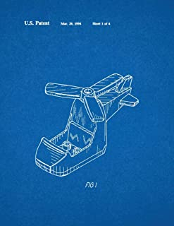 Lego Toy Helicopter Patent Print Blueprint (8.5