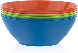 yellow plastic mixing bowl