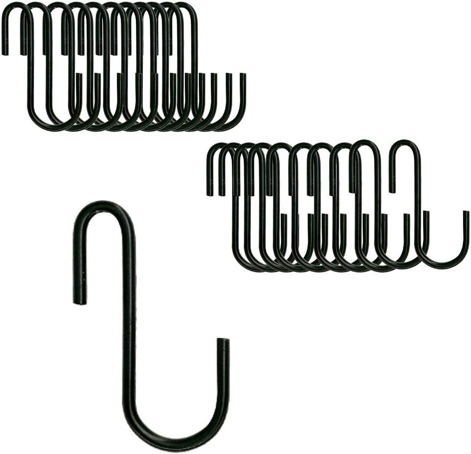 BQKKWIN Limited time New arrival sale Heavy Duty S Hooks Black Hanging Shaped Hangers