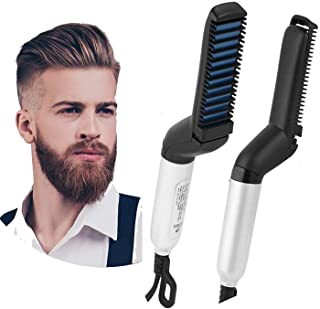 JIVANI BROTHERS Electric Hair Straightener Brush Styler Comb for Men (Multicolour)