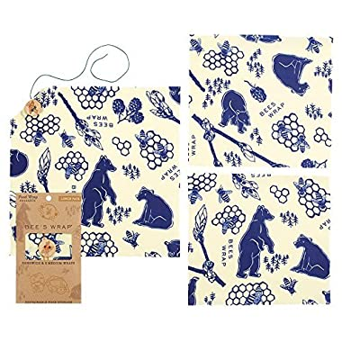 Bee's Wrap Bees & Bears Lunch Pack, Set of 3 Wraps
