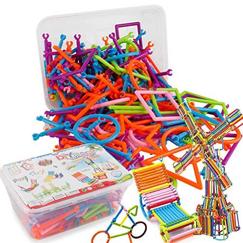 Naisicatar 400 PCS Bausteine ??Stock Baukonstruktion Spielzeug Kreative Kunstoffverarbeitung Spielzeug 3D Puzzle Spielzeug Educational Building Blocks für Kinder Amusant Spielzeug