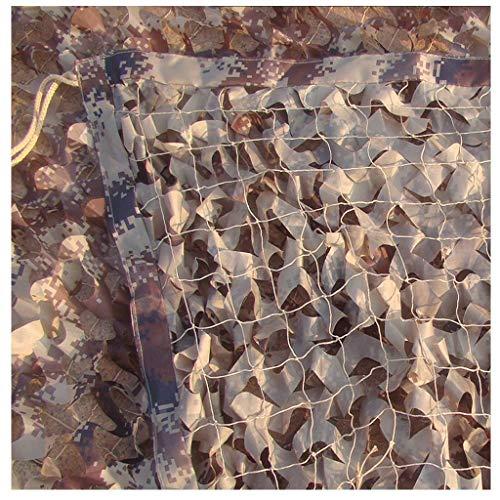 QIANMEI Velas de Sombra Toldos para Patio Netificación de Camuflaje de Woodland | Ejército Camo Net | Deja Hojas de Caza Higido Oculta Outdoor Fotográfico Interior Decoración de la Red (Size : 6X8M)