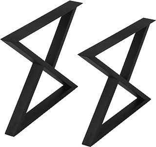 MBQQ 家具脚 素朴な装飾三角形テーブル脚 高耐久メタルデスク脚 ダイニングテーブル脚 工業モダン DIY鋳鉄ベンチ脚 高さ28インチx幅35インチ 2個