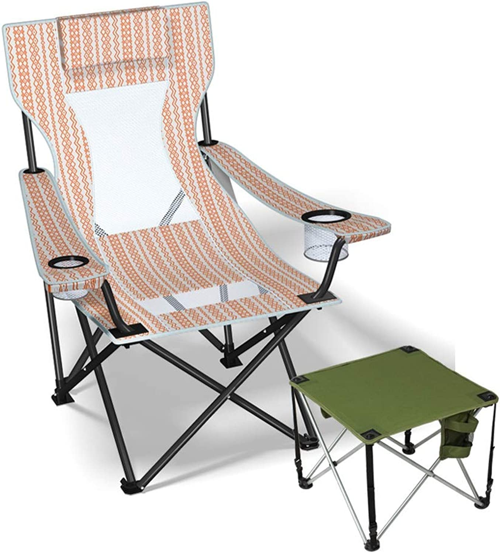 Campingstuhl Ultraleichter Fischen Kampierender Stuhl mit Becherhalter Und Tragetasche, Faltende Strand-Stühle Vervollkommnen für Park, Picknick, Festival, Drauen (Farbe   Style3)
