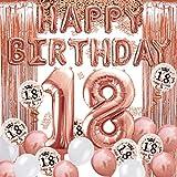 iZoeL 18 ans déco anniversaire or rose,...