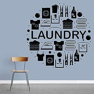 Accessoires de buanderie stickers muraux affiche créative stickers muraux famille art salon chambre décoration murale amov...