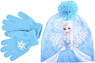 Pixar Frozen ELSA Kids HAT & Gloves Knit Set Blue