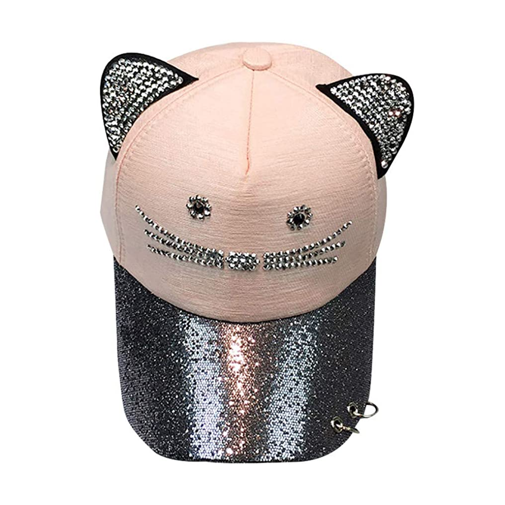 パール退屈なバッチRacazing Cap 野球帽 ヒップホップ メンズ 男女兼用 夏 登山 帽子スパンコール 可調整可能 プラスベルベット 棒球帽 UV 帽子 軽量 屋外 Unisex Hat