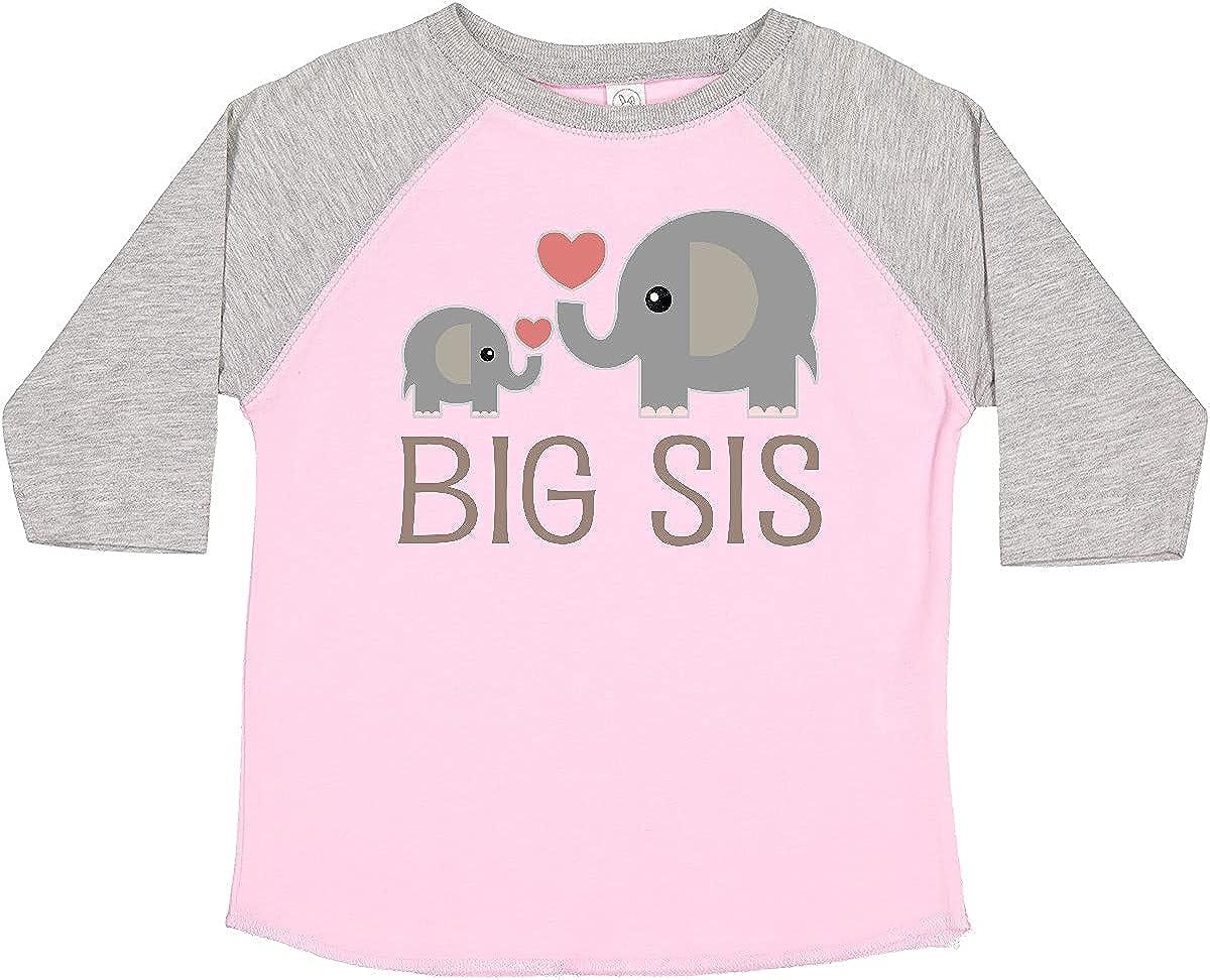 inktastic Big Sis Elephant Toddler T-Shirt