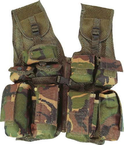 Kids Army Camo DPM Soldier Assault Vest Action Man One size fits most kids from 4 to a small 11 year old by DPM woodland Camo Action Vest