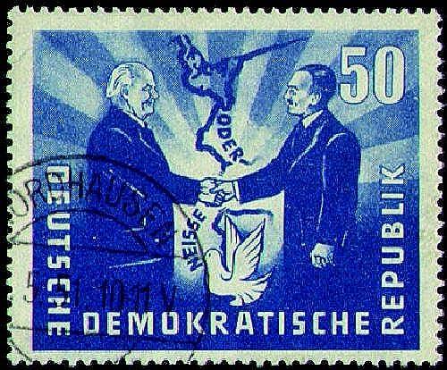 Goldhahn DDR Sammlung mit Nr. 285 gestempelt Briefmarken für Sammler