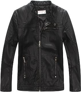 Boys' Faux Soft Leather Jacket Outerwear Biker Jacket