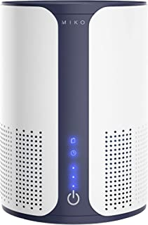 Miko Air Purifier For Home HEPA Filter Air Cleaner For Pets, Allergies, Smoke Odor Eliminator In Large Room, Bedroom, H13 ...