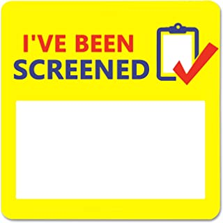 I've Been Screened Stickers,COVID-19 Stickers,1.5 Inch 500 Pcs Stickers