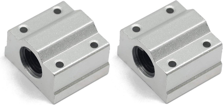 SC30UU 30mm Aluminum Closed Linear Motion Ball Bearing Slide Bushing Block CNC Linear Unit for Linear Guide Rail