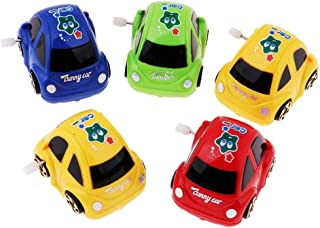 Flameer 5pcs Plastic Wind-up Mini Car Toy Gifts for Kids Goody Bag Giveaway & Prizes
