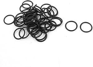 Color : 2.5mm, Size : OD 7mm QWSX Gummierte Schlaufe 100pcs Lot Schwarz O-Ring OD 7 8 9 10 11 12 13 14 14,5 15 16 mm x 2,5 mm NBR-Gummi-O-Ringe Washer Dichtung Automobil Sealing Flexible Dichtung