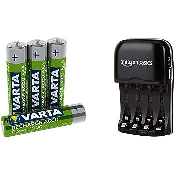 4-Pack Varta Power Accu 1000 mAh Rechargeable AAA Batteries