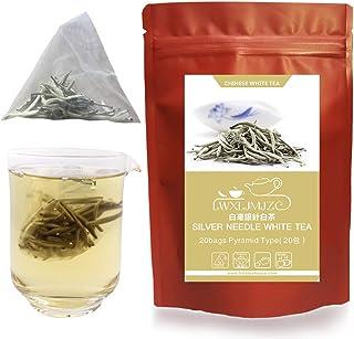 ZJZ-2020年 白茶 ホワイトティー 白毫銀針 ティーバッグ 20包( 最強美肌茶・強力な抗酸化物質が豊富 )中国茶 お茶