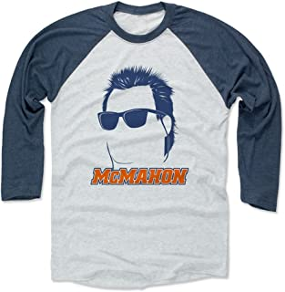 500 LEVEL Jim McMahon Shirt - Vintage Chicago Football Raglan Tee - Jim McMahon Silhouette