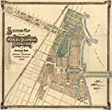 Map WorldS Fair 1893 Nsouvenir Map Of The WorldS Columbian Exposition At Jackson Park And Midway Plaisance In Chicago Illinois Map Published By A Zeese & Co 1893 Poster Print by (18 x 24)