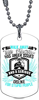 DLAWNECK This Plumber Has Anger Issues Necklaces, I Love My Plumber Dog Tag