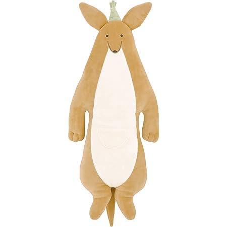 りぶはあと 抱き枕 ルーミーズパーティー 遠くを見つめるカンガルー Lサイズ (全長約77cm) ふわふわ もちもち 58931-13