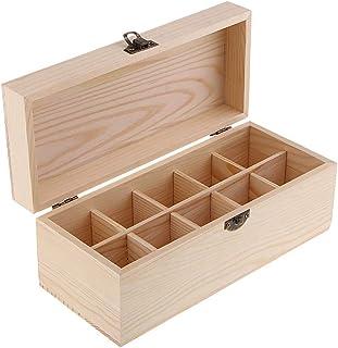 Box Oil Essential Luggage Theedoos van hout om te knutselen, keuze uit 4 soorten - 10 rasters