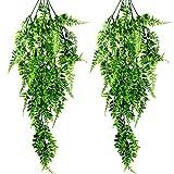 MUSEDAY 2 Piezas Plantas Hiedra Artificiales Plantas Artificiales Grandes Artificial Hiedra Planta Colgante Plastica Verde Follaje Vid Decoración para Decoración de Jardín en Casa