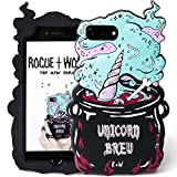 Rogue + Wolf 3D Unicorn Brew Phone Hülle Kompatibel mit iPhone 6+ 6s+ 7+ 8+ Plus Hüllen Handyhüllen Schützende Silikonhülle