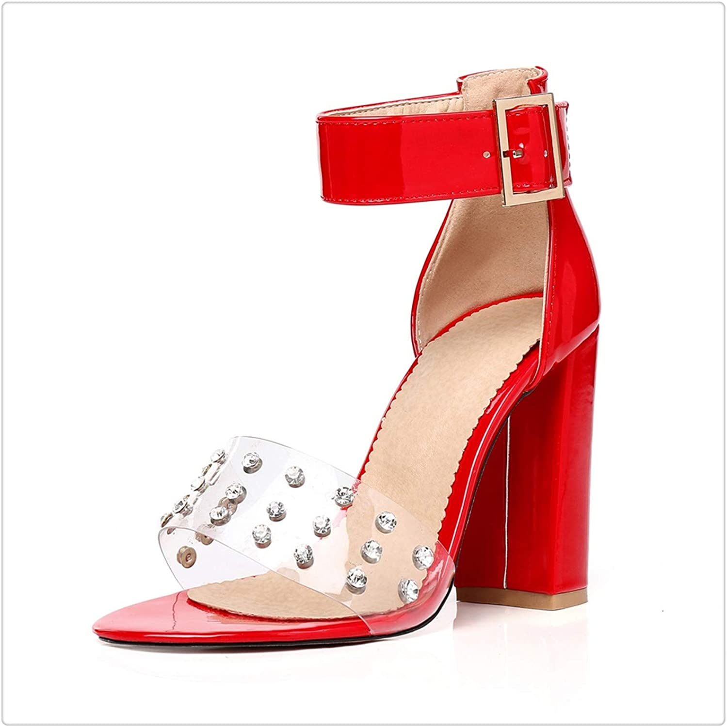 ZXCVB& Fashion Buckle 10cmHigh Heels Sandals Women Sexy Summer shoes
