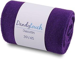 34f652062df5c Dandytouch Chaussettes Jersey Homme unies Violet 39-45 - Fabriqué en europe