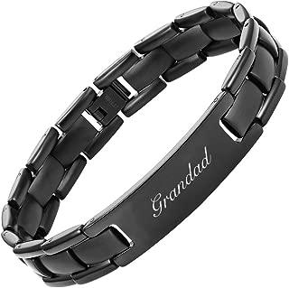 Willis Judd Grandad Titanium Bracelet Engraved Love You Grandad Adjusting Tool & Gift Box Included