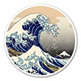 CUSTOMI Circle - Great Wave Off Kanagawa Decal Sticker for Car Truck MacBook Laptop Air Pro Vinyl