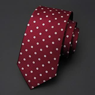 Men's Fashion Casual Tie Silk Tie is Suitable for Work, Parties, Weddings, Business, 145 × 8cm Men's Gift MSJQQ (Color : E)
