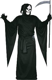Falce Da Uomo Costume Triste Mietitore Costume Di Halloween Adulti BLACK HORROR ROBE