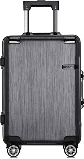 KTYXDE Trolley Box Custom PC Aluminum Frame Universal Wheel Luggage Fashion Business Password Anti-Theft Boarding Outdoor Luggage Trolley case (Color : Silver, Size : 24 inches)