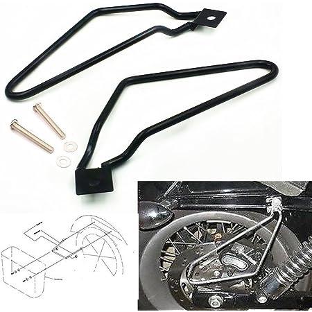 Schwarz Motorrad Saddle Bag Support Bars Mounts Brackets Satteltasche Halterung Auto
