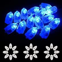 Xiangmall Led Bombillas Mini Luces Globo Luz Linternas Papel Individual Led Lights para Festival Cumpleaños Boda Decoración 100Pcs (Azul)