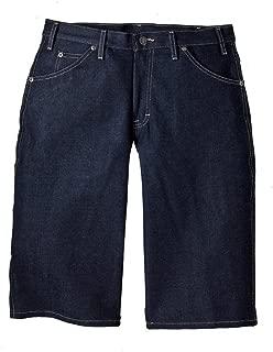 Indigo Blue Denim Loose Fit Work Shorts