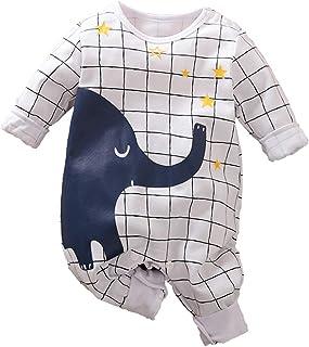 Baby Jungen M/ädchen Strampler Elefant Musterdruck Design Baby S/ü/ß Langarm Pyjamas S/äugling Outfit Overall Schlafanzug Kleidung