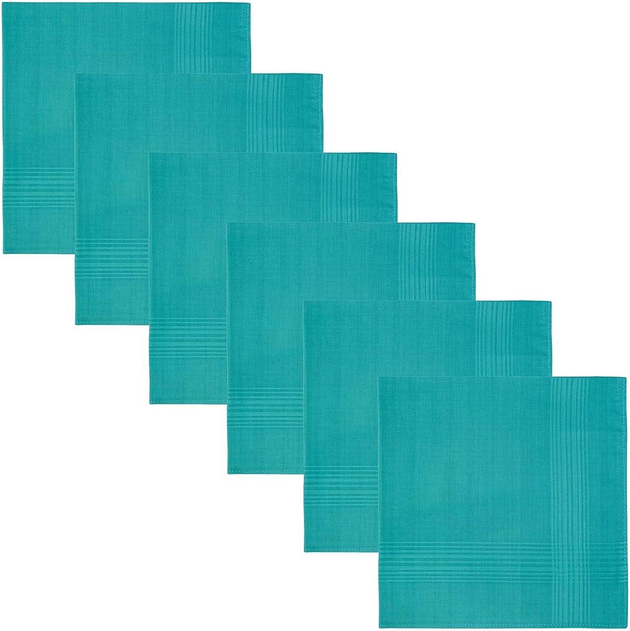 Retreez 6 Piece Pure Limited time for free shipping Cotton Handkerchiefs Solid Color Men's Hank Seasonal Wrap Introduction
