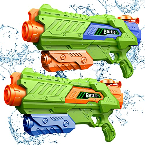 JINRUCHE Water Guns - Squirt Gun for Kids & Adult 1400CC 40 Feet Long Range Super Water Soaker Blasters Swimming Pool Toys - Summer Outdoor Fighting Play Toys