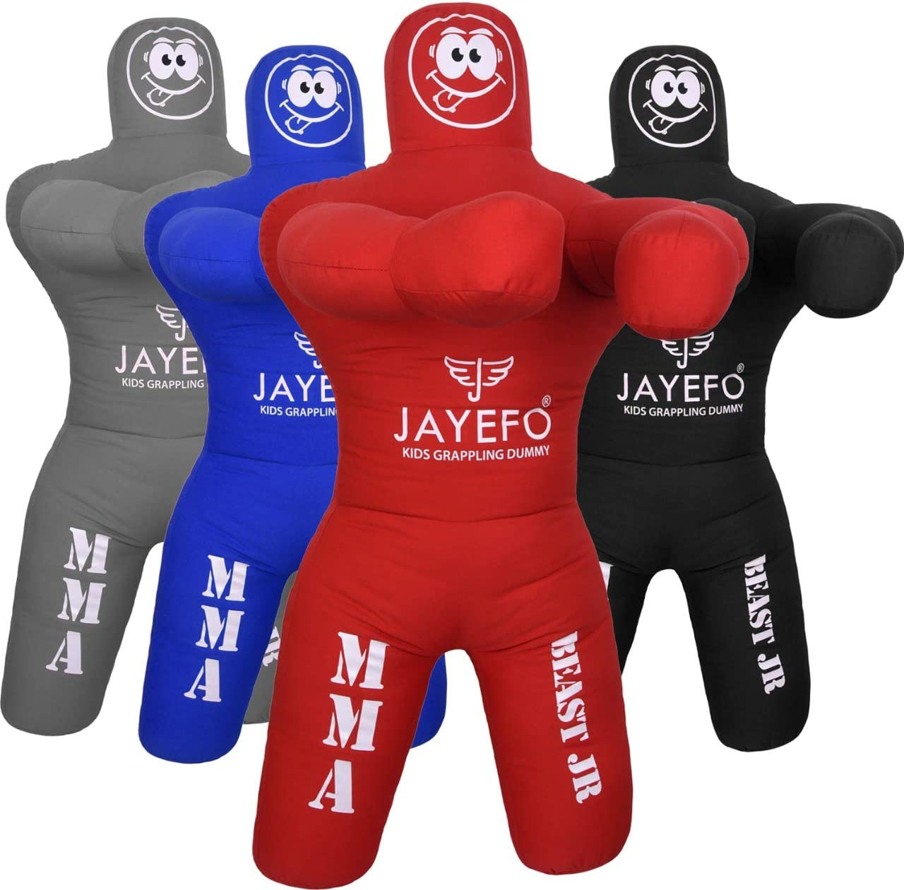 Jayefo Beast 58 BJJ Brazilian JIU Jitsu Wrestling Dummy for Grappling-Submission-Mixed Martial Arts-MMA-Training Punching Throwing Boxing Bag Practice Karate Judo.
