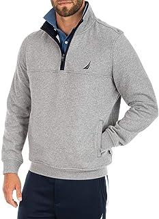 NAUTICA Men's 1/4 Zip Bonded Fleece Sweatshirt