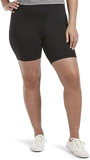 HUE womens High Waist Blackout Cotton Bike Shorts, Assorted Hosiery