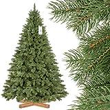 FairyTrees Árbol de Navidad Artificial PÍCEA Real Premium, PU y PVC, Soporte de Madera, 180cm, FT18-180