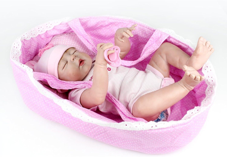 Silikon Vinyl Reborn Baby Puppen Handgemachte Lebensechte Realistische Baby Puppe Weiche Simulation 22 Zoll 55 Cm Augen ffnen Mdchen Lieblingsgeschenk Kann Gewaschen Werden